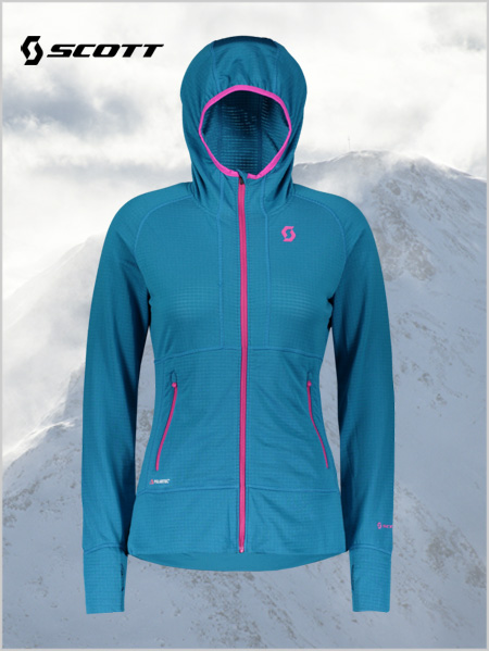 Womens Defined Polar Jacket - Mykonos blue