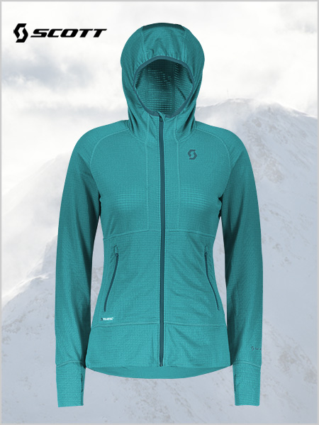 Womens Defined Polar Jacket - Sky blue