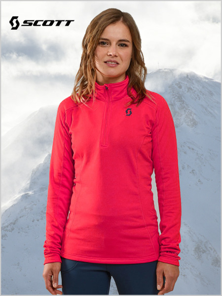 Defined Light Womens Pullover - Hibiscus red