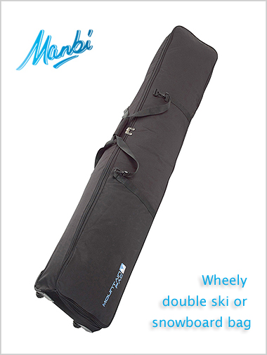 Wheely double ski / snowboard bag