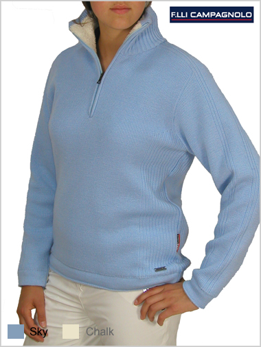 Plain knit pullover - womens