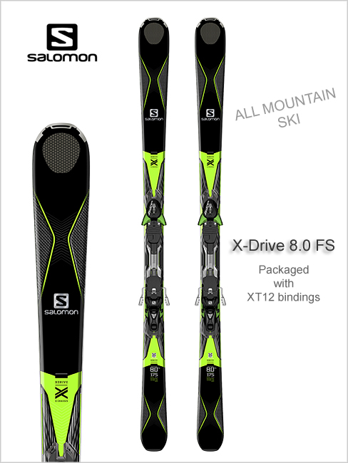 X-Drive 8.0 FS skis and XT12 binding
