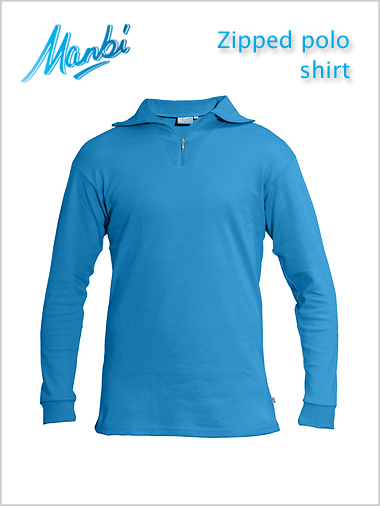 Zip polo shirt - electric blue