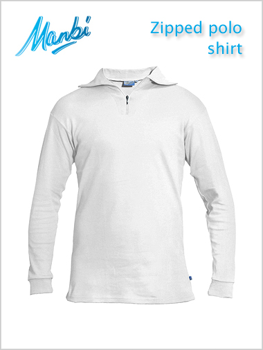 Zip polo shirt - white