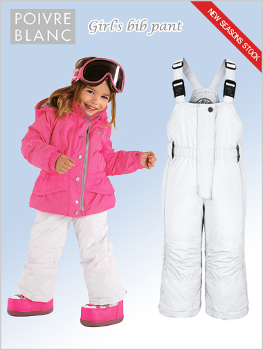 Age 4-7: girls bib pant (white)