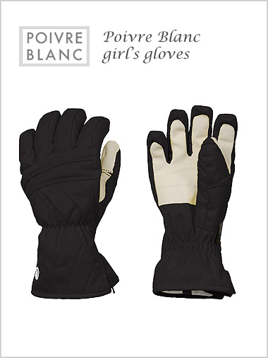 Junior: Girl's black gloves