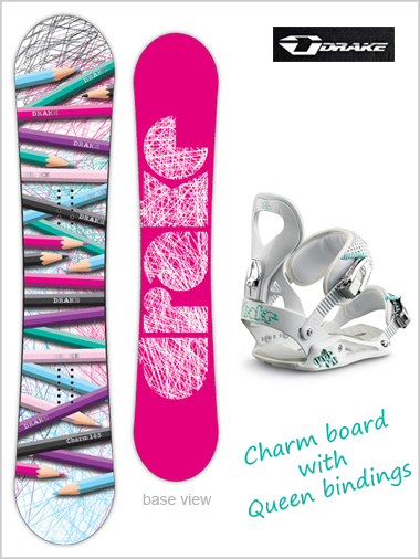 Charm board and Queen binding package - pink