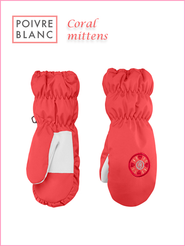 Child: Coral mittens (age 4-5)