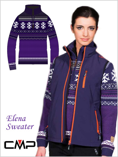 Elena Ladies Traditional Knit Sweater