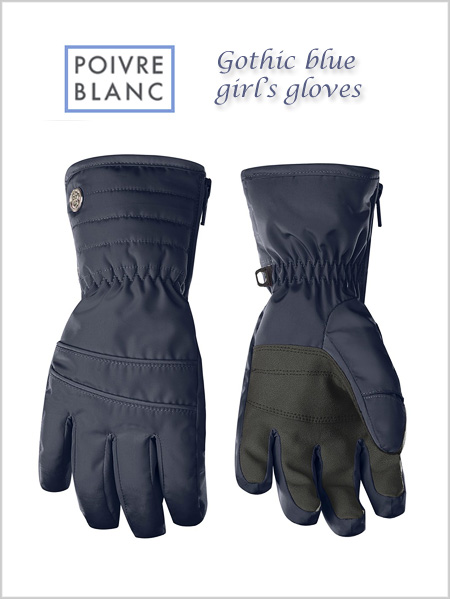 Junior: Girl's gothic blue gloves