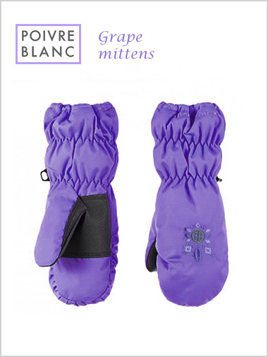 Child: Grape mittens (age 6-7)