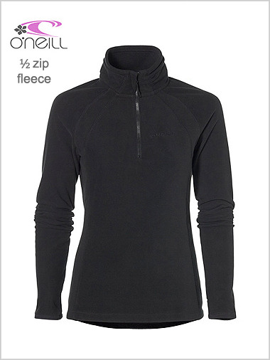 Womens half zip fleece - black (only 14 - 16 now left)