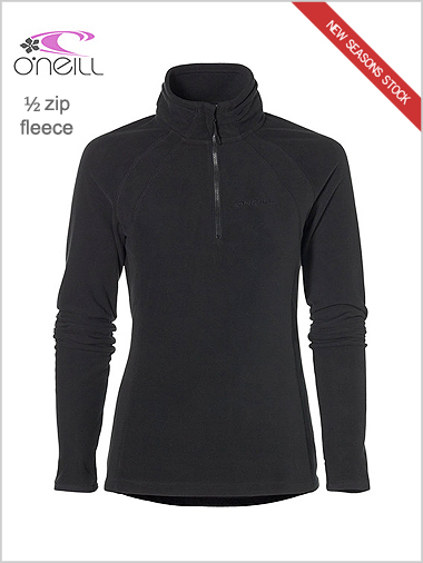 NEW womens half zip fleece - black