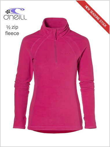 Womens half zip fleece - framboise pink (only UK 14-16 now)