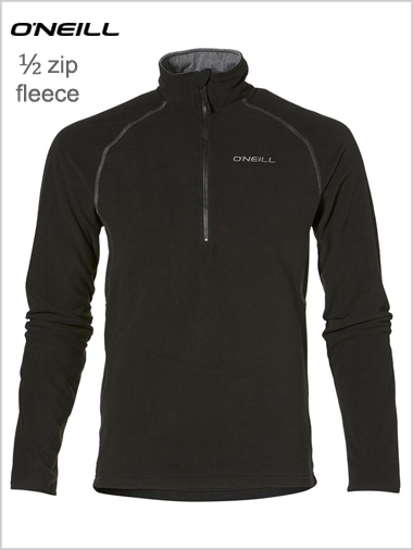 Half zip fleece - Black (only L now left)