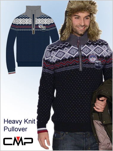Mens Traditional Heavy Knit Pullover