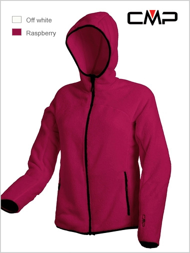 Ladies hoody fleece (Raspberry or white)