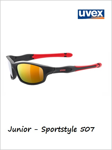 Junior - Sportstyle 507 black (red mirror lens)