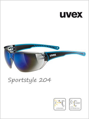 Sportstyle 204 blue mirror sunglasses - cat 3