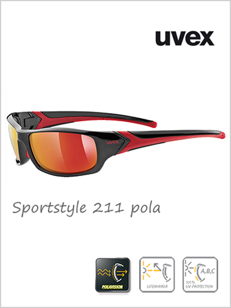 Sportstyle 211 POLA sunglasses (red mirror lens) - cat 3