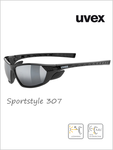 Sportstyle 307 silver mirror sunglasses - cat 4
