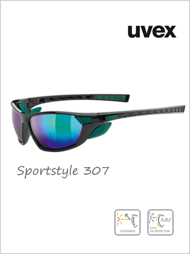 Sportstyle 307 green mirror sunglasses - cat 4