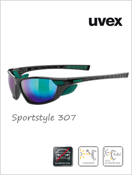 Sportstyle 307 sunglasses (green mirror lens) - cat 4