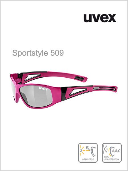Junior - Sportstyle 509 pink (silver mirror lens)