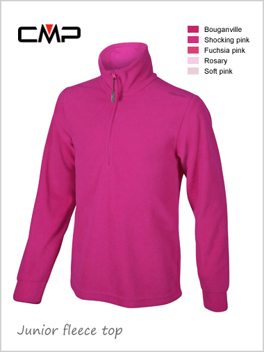 Child / junior - unisex fleece top - pinks