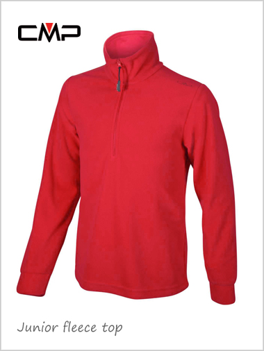 Child / junior - unisex fleece top - red