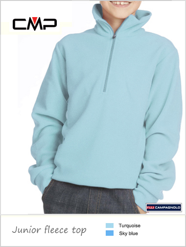 Child / junior - unisex fleece top - light blues (age 14)