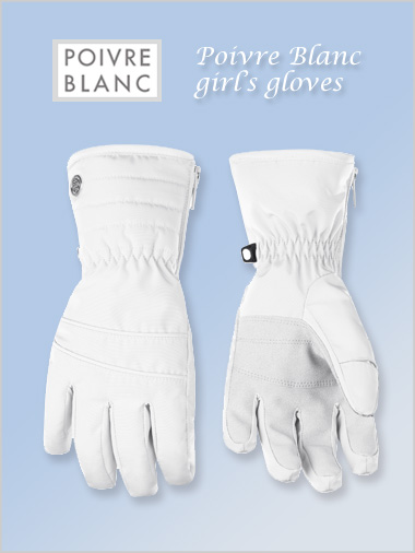 Junior: Girl's white gloves